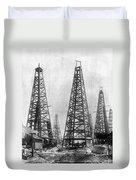 Texas: Oil Derricks, C1901 Duvet Cover