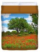 Texas Poppy Field 159 Duvet Cover