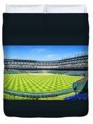 Texas Rangers Ballpark Waiting For Action Duvet Cover