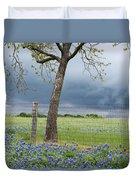 Texas Spring Storm Duvet Cover