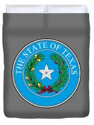 Texas State Seal Duvet Cover