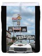 Texas Steak House Kitsch  Duvet Cover