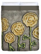 Texture Blooms In Sunshine Duvet Cover