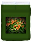 Texture Drama Field Of Tiger Lilies Duvet Cover