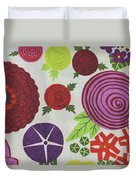 Texture Of Colored Fabric Duvet Cover
