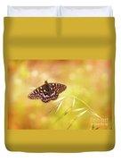 Textured Chalcedon Butterfly Duvet Cover
