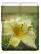 Textured Daylily Duvet Cover