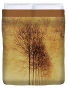 Textured Eerie Trees Duvet Cover