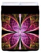 Textured Flower Duvet Cover