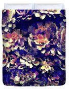 Textured Garden Succulents Duvet Cover
