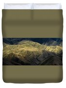 Textured Hills Panoramic Duvet Cover