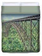 Textured New River Gorge Bridge Duvet Cover
