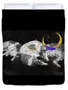 Textured Night For Borzoi Dogs Duvet Cover