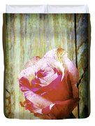 Textured Pink Red Rose Duvet Cover