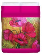 Textured Poppies Duvet Cover