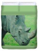 Textured Rhino Duvet Cover