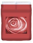 Textured Rose Macro Duvet Cover by Meirion Matthias