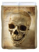 Textured Skull Duvet Cover