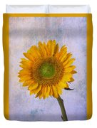 Textured Sunflower Duvet Cover