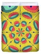 Textured Tropical Mandala Duvet Cover