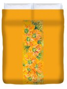 Textured Yellow Sunflowers Duvet Cover