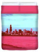 Textures Of Chicago Duvet Cover