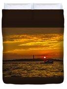 Thacher Island Lights Duvet Cover