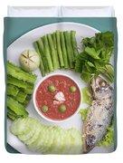 Thai Chili Paste Duvet Cover
