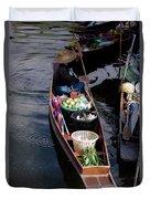 Thai Floating Village 1 Duvet Cover