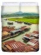Thai Floating Village Duvet Cover