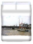 Thames Barges Duvet Cover