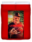 Things Can Get Ugly Fast On Halloween  Duvet Cover
