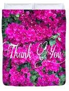 Thank You 1 Duvet Cover