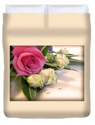 Thank You Rose Bouquet  Duvet Cover