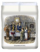 Thanksgiving, 1853 Duvet Cover