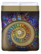 Thanksgiving Chapel Stained Glass Duvet Cover