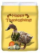 Thanksgiving Indian Duck Duvet Cover