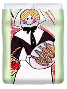 Thanksgiving Lady Pilgrim Duvet Cover