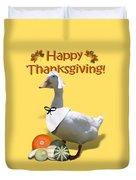 Thanksgiving Pilgrim Duck Duvet Cover