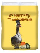 Thanksgiving Pilgrim Goose Duvet Cover