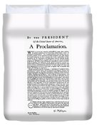Thanksgiving Proclamation Duvet Cover