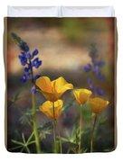 That Golden Poppy Glow  Duvet Cover