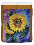 That Sunflower From The Sunflower State Duvet Cover