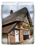 Thatched Cottages In Chawton 4 Duvet Cover