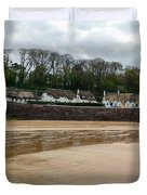Thatched Cottages In Dunmore East Ireland  Duvet Cover