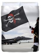 The 428th Fighter Squadron Buccaneer Duvet Cover by Stocktrek Images