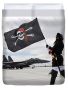 The 428th Fighter Squadron Buccaneer Duvet Cover