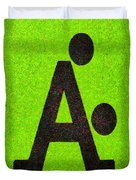 The A With Style Lime - Pa Duvet Cover