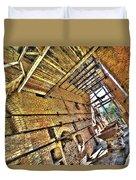 The Abandoned Furnace Quarry Building Duvet Cover by Enrico Pelos