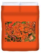 The Abstract Days Of Autumn Duvet Cover